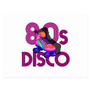Roller Skater 80s Postcard