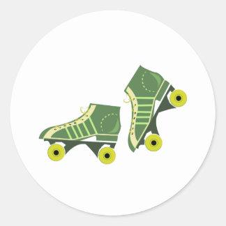 Roller Skates Classic Round Sticker