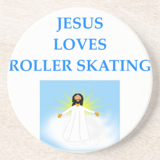 roller skating beverage coasters