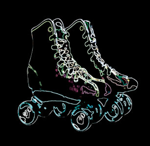 Roller Skating Neon Stars Confetti Birthday Decor