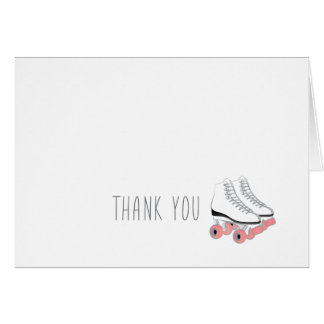 Roller Skating Party Thank You Card