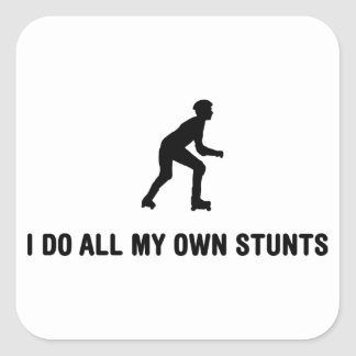 Roller Skating Square Stickers