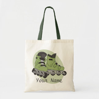 Rollerblade Skates Personalized Name Tote Bag