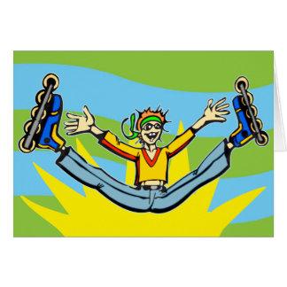 Rollerblading Card