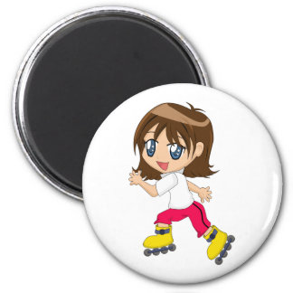 Rollerblading Girl Magnet