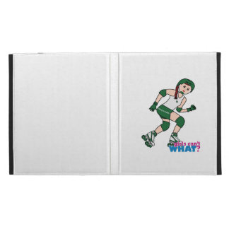 Rollerderby Girl Light/Red iPad Folio Cases