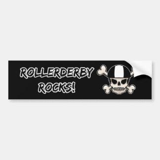 RollerDerby Rocks Skull Bumper Sticker