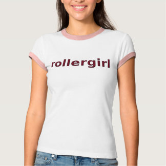 rollergirl red stripe text T-Shirt