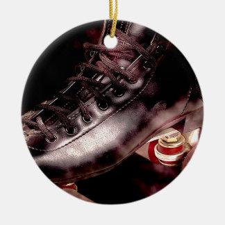 Rollerskate Roller Derby Grunge Style Ceramic Ornament
