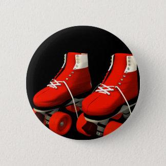 Rollerskates 6 Cm Round Badge