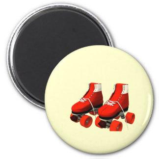 Rollerskates 6 Cm Round Magnet