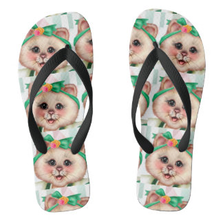 ROLLET CAT CUTE Adult, Wide Straps Thongs