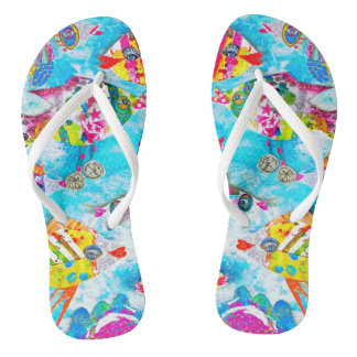 """Rollin' Down the River"" Fishy Flops Thongs"