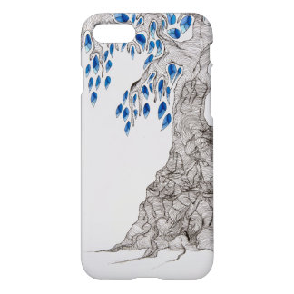 """Rolling Designs, """"Blue Leaves Tree"""" iPhone 8/7 Case"""