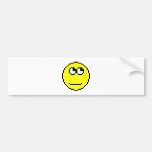 Rolling Eyes Emoticon Bumper Stickers