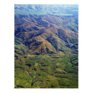 Rolling hills in Southland Region of New Zealand Postcard
