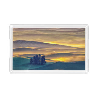 Rolling Hills of Wheat at Sunrise | WA Acrylic Tray