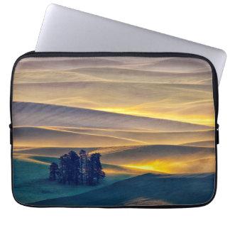 Rolling Hills of Wheat at Sunrise | WA Laptop Sleeve