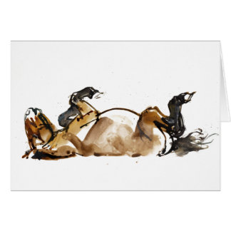 Rolling Horse Card