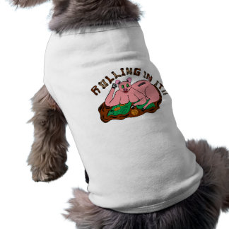 ''Rolling in it'' Doggie ribbed tank top Sleeveless Dog Shirt