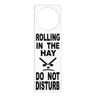 Rolling In The Hay Do Not Disturb Door Hanger