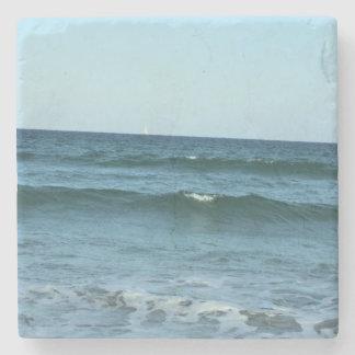 Rolling Ocean Waves Stone Coaster