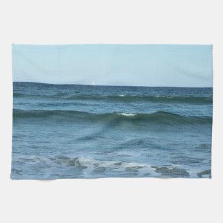 Rolling Ocean Waves Tea Towel