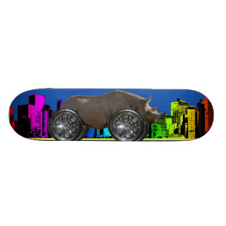 Rolling on 22 ' s [ Rhino ] Skate Board