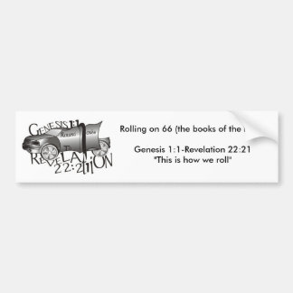 Rolling on 66 (the books of th... bumper sticker