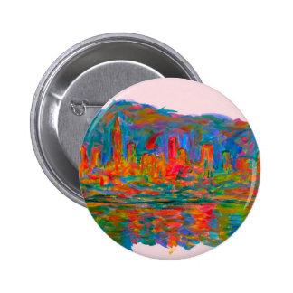 Rolling on New York 6 Cm Round Badge