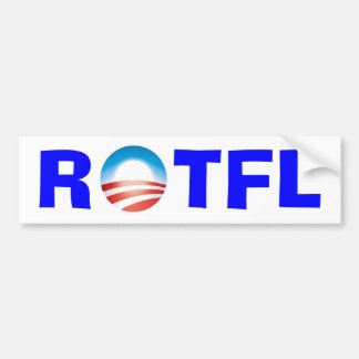 Rolling on the Floor Laughing at Obama Bumper Sticker