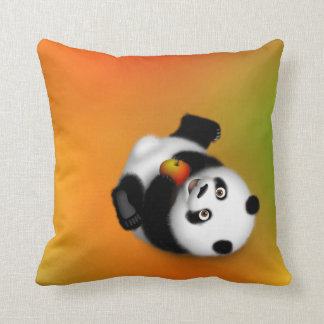 Rolling Panda Throw Pillow
