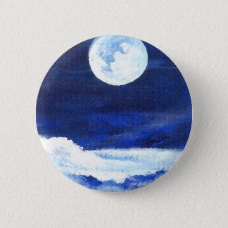 Rolling Sea - CricketDiane Ocean Art 6 Cm Round Badge