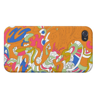 """Rolling Sky"" Abstract Art iPhone 4 Cases"