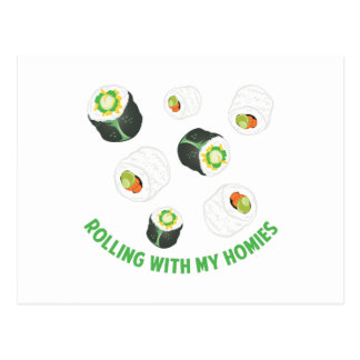 Rolling With Homies Postcard