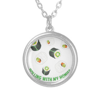 Rolling With Homies Silver Plated Necklace