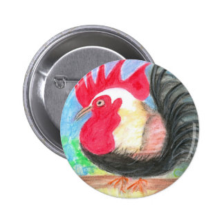 rollo rooster pinback button