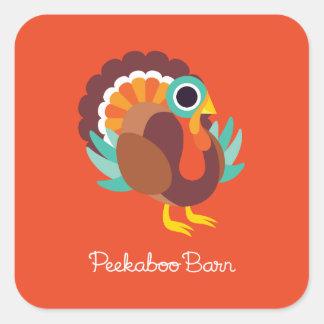 Rollo the Turkey Square Sticker