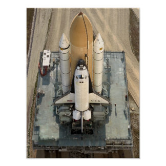 Rollout of Space Shuttle Columbia (STS-90) Poster