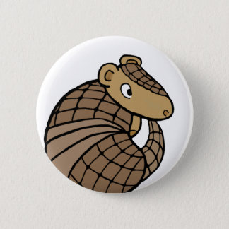 Rolly armadillo 6 cm round badge