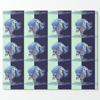 "ROLO ROBOT CUTE 30"" x 60'   CARTOON Wrapping Paper"