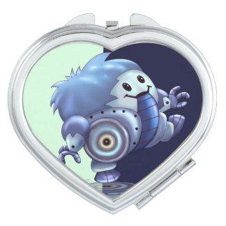 ROLO ROBOT CUTE CARTOON compact mirror HEART