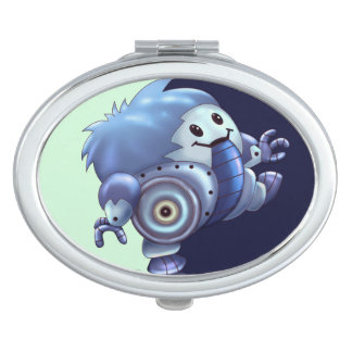 ROLO ROBOT CUTE CARTOON compact mirror OVAL