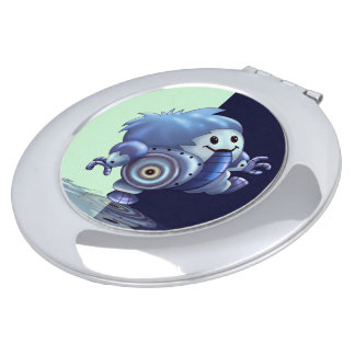 ROLO ROBOT CUTE CARTOON compact mirror ROUND