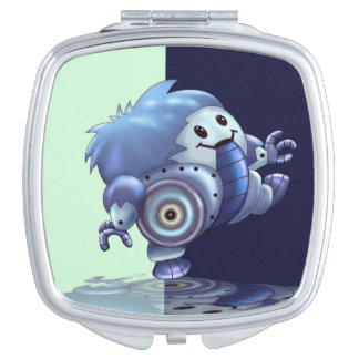 ROLO ROBOT CUTE CARTOON compact mirror SQUARE