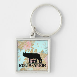 Roma Amor Silver-Colored Square Key Ring