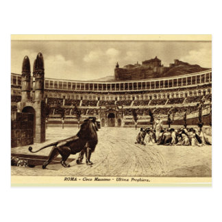 Roma Artist's Impression, Lions and christians Postcard