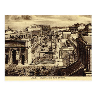 Roma, Artist's Impression of Forum in Roman times Postcard