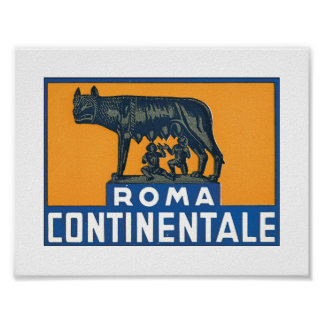 Roma Continentale Poster