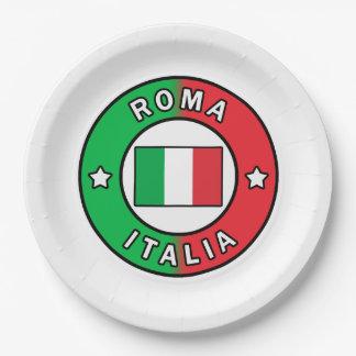 Roma Italia Paper Plate